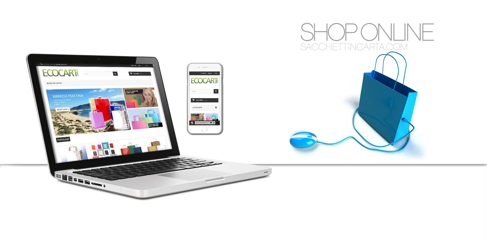 Nous Ecommerce - Magasin En ligne sacchettincarta.com by Ecocart Spa - Nous Shop Online