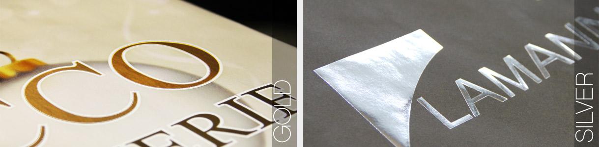 Sacs en papier personnalisés: impression Or et Argent